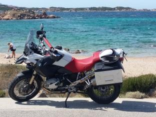 motocicletta vista mare
