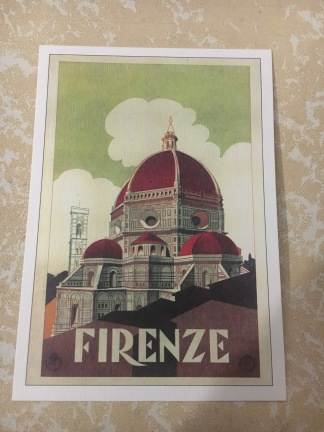 Cartolina artistica di Firenze